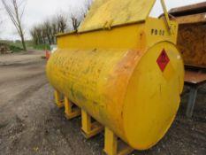2727Litre steel storage tank c/w hose and pump