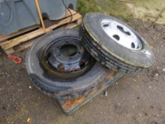 2no. 8.5/R17.5 lorry wheels and tyres