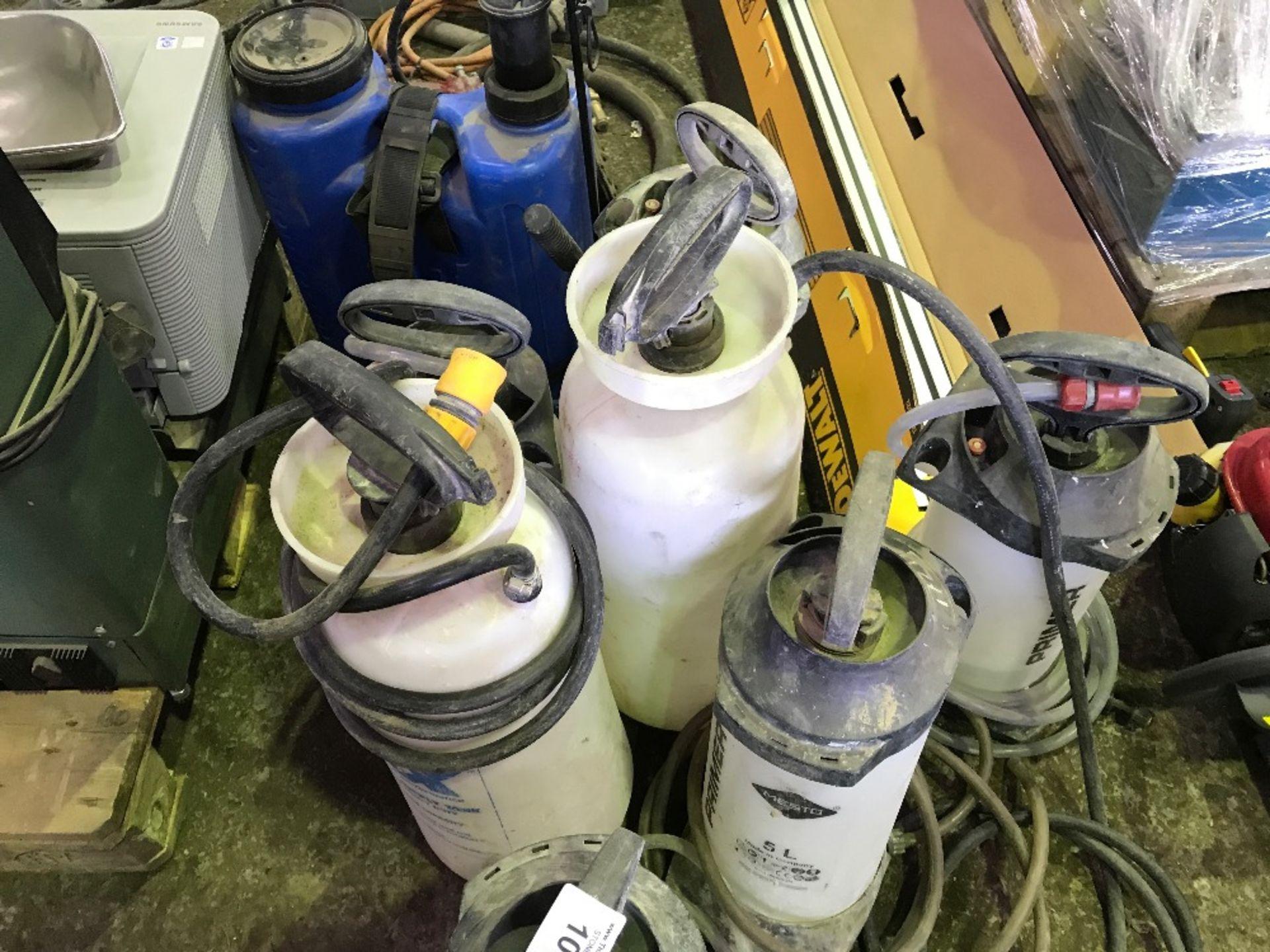 Lot 1003 - Back pack sprayer plus 7no. wet cut bottles