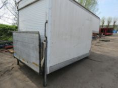 luton body for van with tail lift