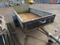 Single axled trailer, 7ftx4ft approx.