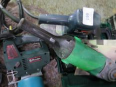 Jigsaw, sander, grinder and battery drill