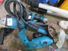 MAKITA DRILL, 2 X GRINDERS PLUS 2 X BATTERY WRENCHES