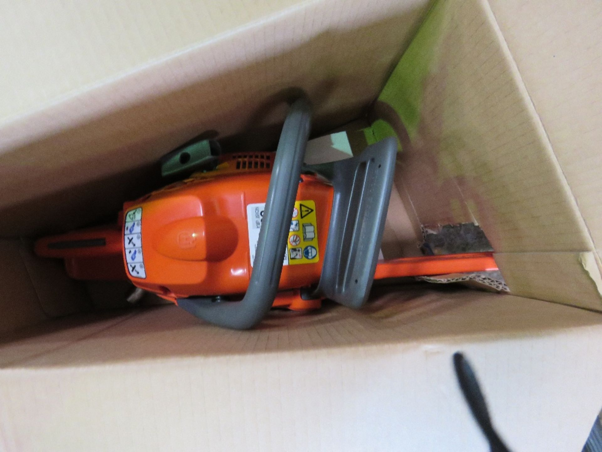 Lot 1167 - HUSQVARNA 120 PETROL ENGINED CHAINSAW, BOXED,