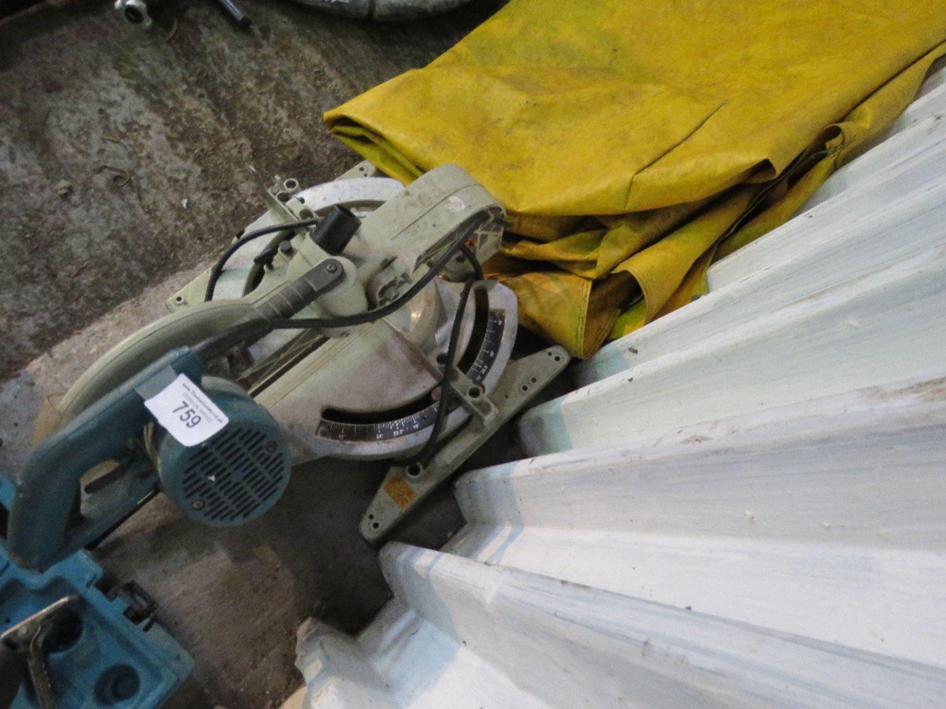 Lot 759 - Makita 110v mitre saw