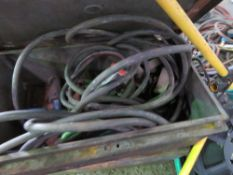 2no. Boxes of tools and air lines