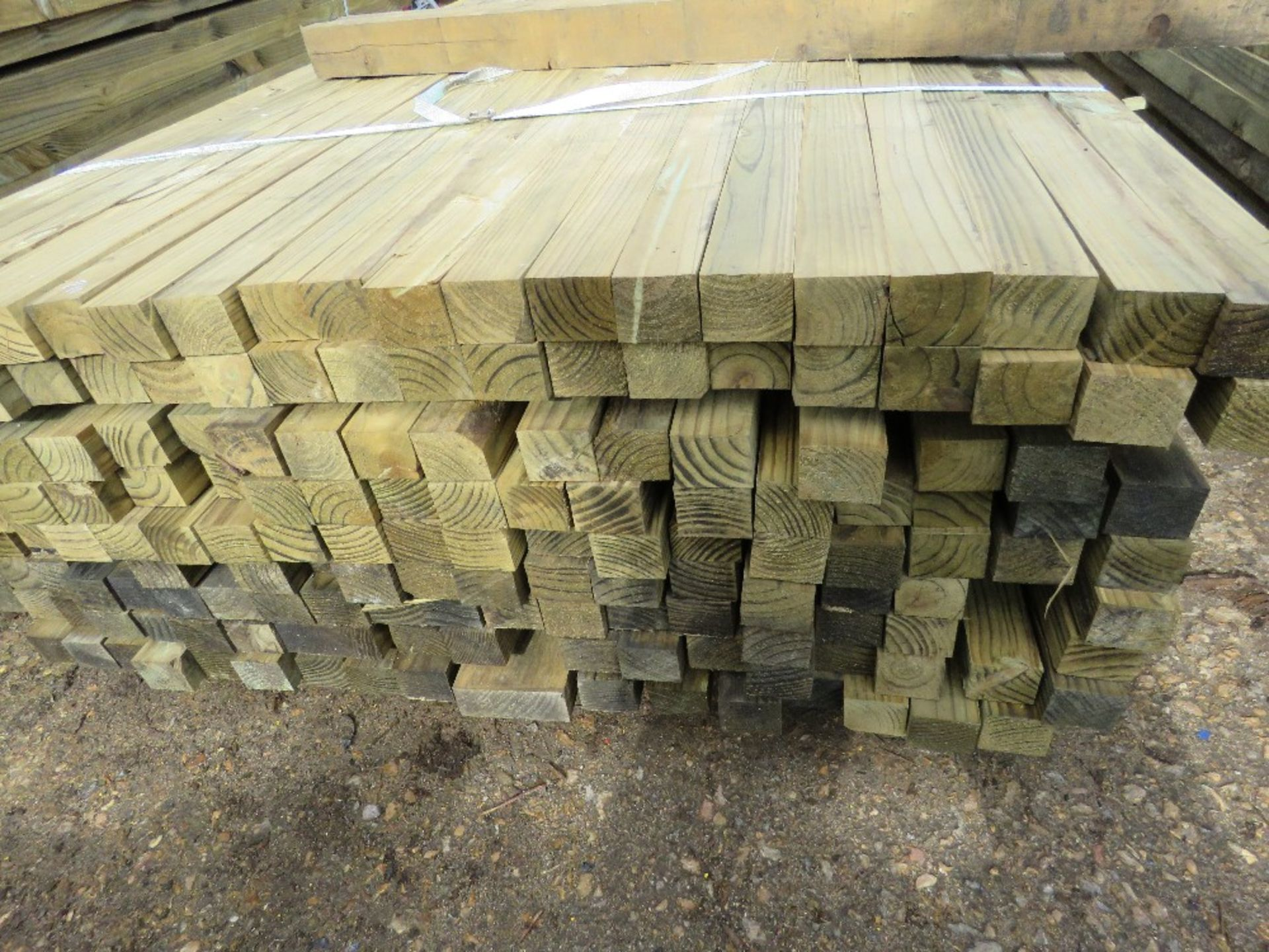 Lot 230 - Large pack of timber posts, approx. 210no. in total, 45mmx55mm
