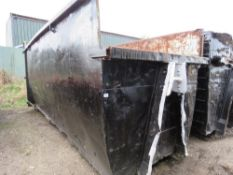 Hook lift waste container skip, 40yards capacity approx.