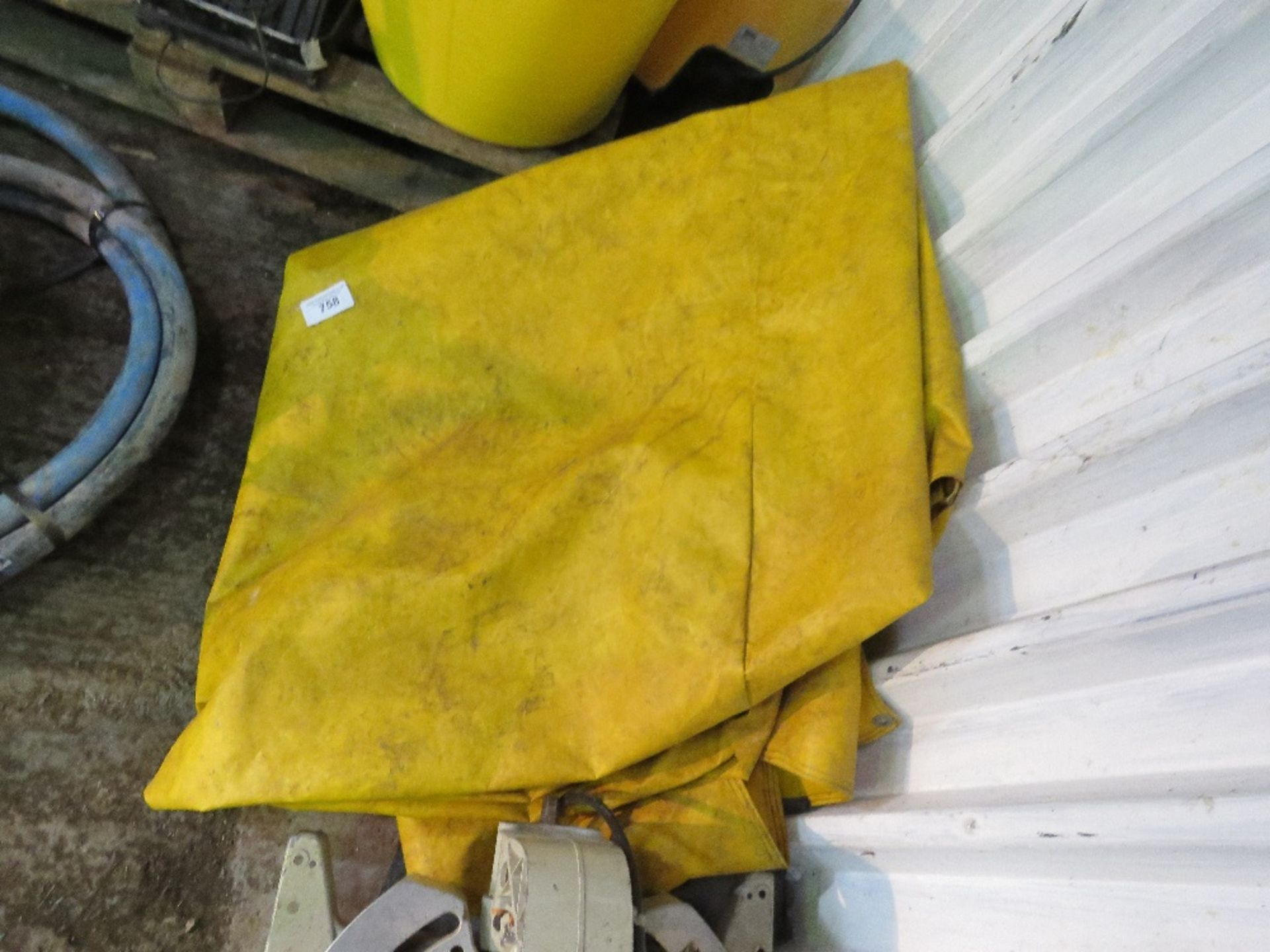 Lot 758 - JCB 3CX window cover sheet