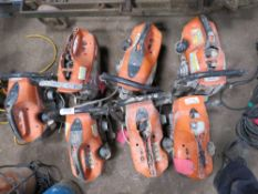 7 X STIHL TS410 PETROL SAWS, INCOMPLETE, FOR SPARES