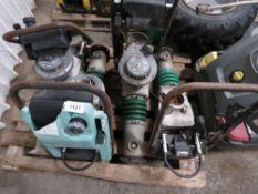 "4 X WACKER TRENCH COMPACTORS FOR SPARES/REPAIR. All items ""sold as seen"" or ""sold as is"" with no"