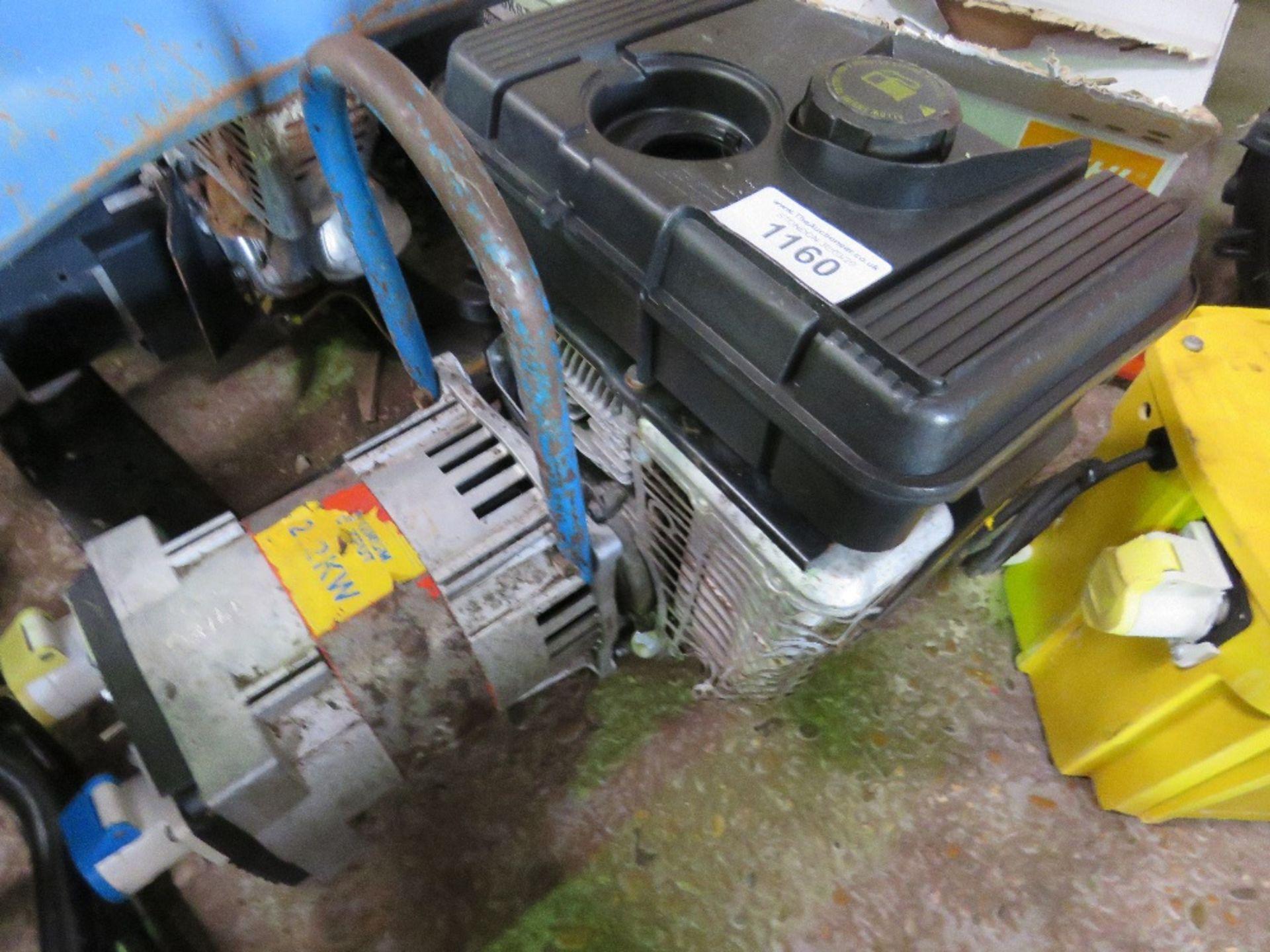 Lot 1160 - 2.2KW PETROL ENGINED GENERATOR