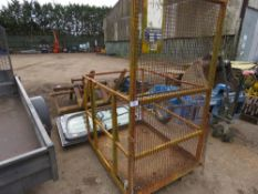 Forklift mounted man cage, untested