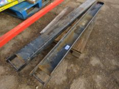 Pair of extension fork tines, ex company liquidation