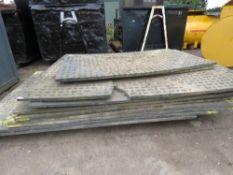 Qty of heavy duty plastic bog/track mats