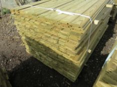 Pack of shiplap timber cladding, 1.73m length x 10cm wide approx.