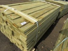 Pack of feather edge timber, 1.8m length x 10cm wide