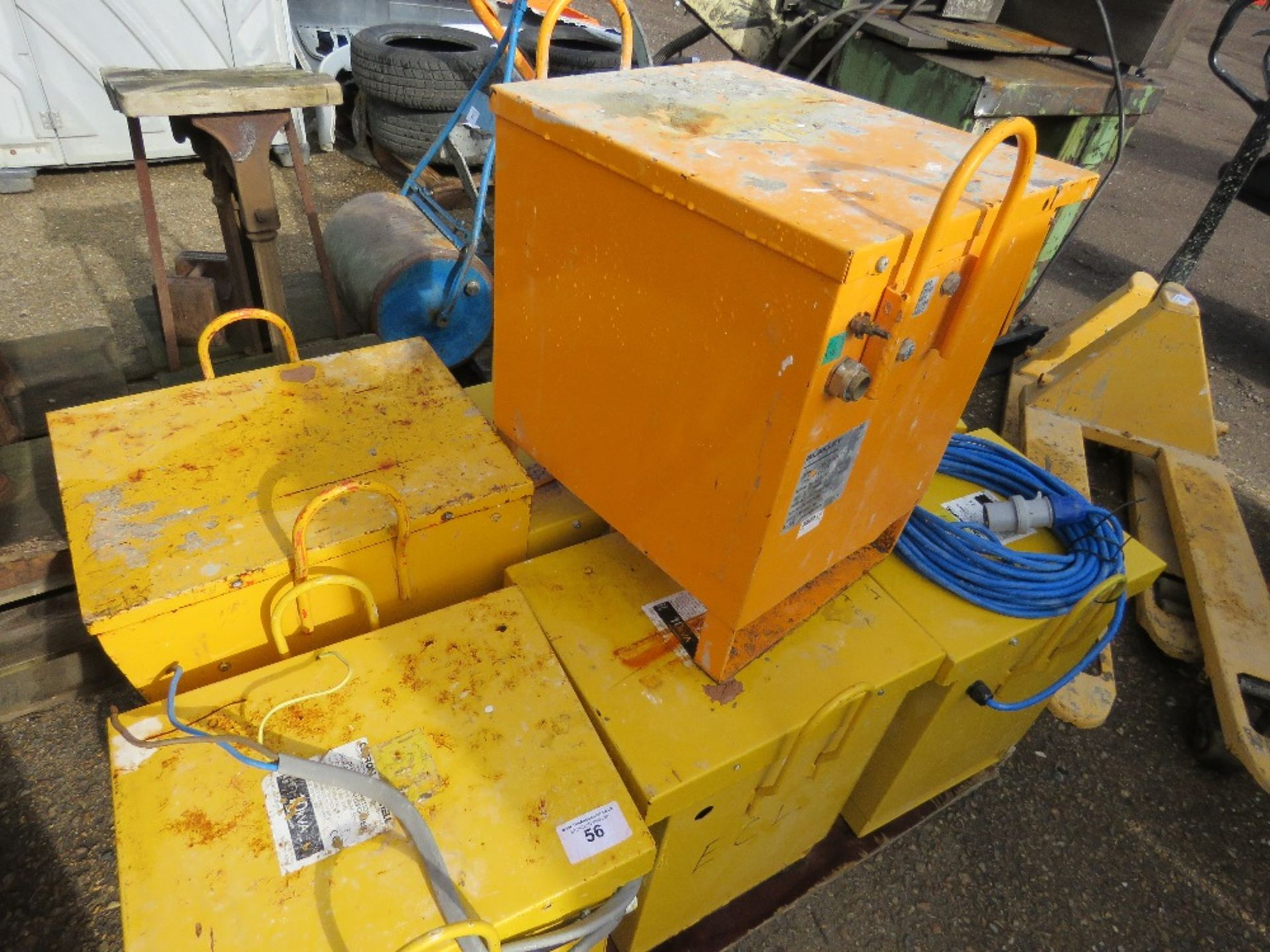 Lot 56 - Pallet containing 7no. site transformers