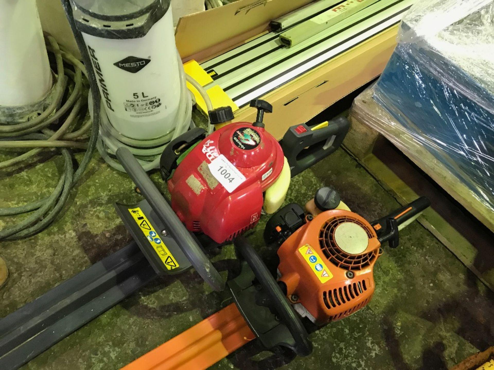 Lot 1004 - Honda and Stihl petrol hedge cutters