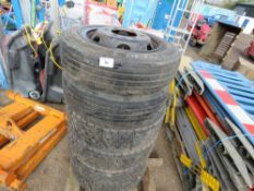6no. 205-75/R17.5 lorry wheels and tyres