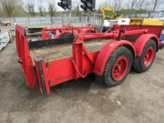 LOLODE HEAVY DUTY LORRY TOWED LOW LOAD TRAILER, DROP DECK TYPE, AIR BRAKES.