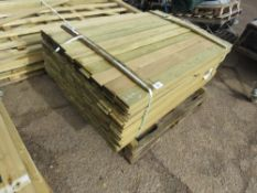 Pack of fencing timber, 1.44m length, 10cm wide x 4mm thickness