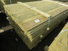 Pack of shiplap timber cladding, 1.81m length x 10cm wide approx.