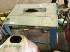 Small woodwork saw bench, 240v