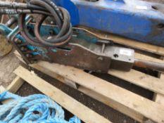 Small sized MSB Saga 20H excavator breaker on 30mm pins
