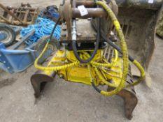 Rotating excavator selector grab on 50mm pins