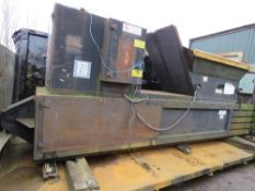 CDR 3-phase powered waste baler on roll on/off body