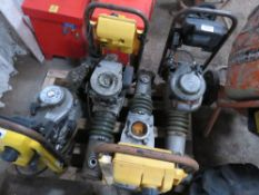 "4 X ASSORTED YELLOW TOP TRENCH COMPACTORS, FOR SPARES/REPAIR All items ""sold as seen"" or ""sold as"