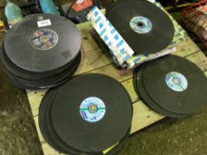 Large qty of cutting discs, mainly Norton 356mm