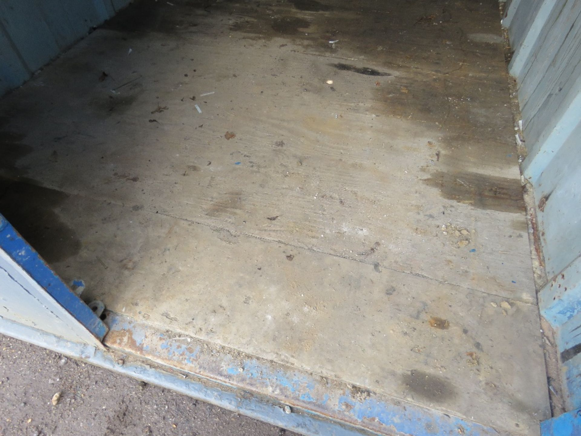 Lot 1798 - SECURE STEEL CONTAINER WITH KEYS 10FTX8FT APPROX.