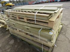 Stack of assorted fence panels, 11no. approx., various sizes