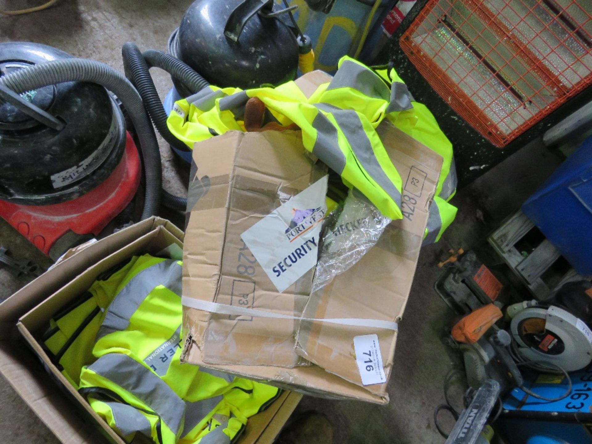 Lot 716 - 4no. Boxes of safety clothing