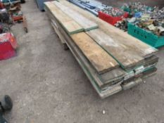 PALLET LOAD OF SCAFFOLD BOARDS...18 @12FT AND 2@ 8FT LENGTH APPROX