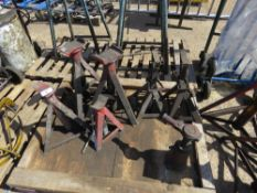 PALLET CONTAINING 6X AXLE STANDS SCREW JACK AND JACK TOPS sourced from company liquidation