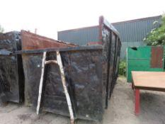 Hook bin waste skip, 40yard capacity approx.