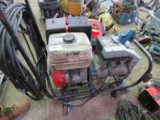 CLARKE POWER PETROL ENGINED WELDER, WITH LEADS...NO RECOIL THEREFORE UNTESTED, DIRECT FROM COMPANY L