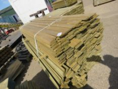 1 X LARGE PACK OF SHIPLAP TIMBER FENCE CLADDING, 1.75M X 9CM WIDE X 1.5CM DEEP APPROX