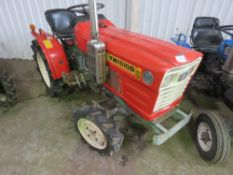 YANMAR YM1510D 4WD COMPACT TRACTOR WITH REAR LINKAGE WHEN TESTED WAS SEEN TO START, DRIVE, STEER AND