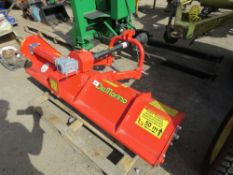 DELMORINO TOP 158 TRACTOR MOUNTED FLAIL MOWER FOR COMPACT TRACTOR, MANUAL OFFSET, YEAR 2015, 1.58CM