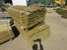 2 X PACKS OF SHIPLAP TIMBER FENCE CLADDING, 1.55M X 9CM WIDE X 1.5CM DEEP APPROX