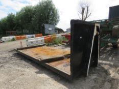 "HOOK LOADER FLAT FRAME FOR PLANT MOVING ETC, 17FT APPROX BED SIZE X 7FT6"" APPROX WIDTH"