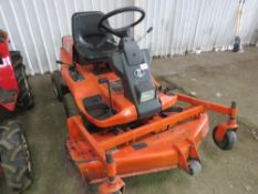 KUBOTA F1900 4WD OUTFRONT ROTARY MOWER WHEN TESTED WAS SEEN TO START, DRIVE, STEER AND BRAKE AND MOW