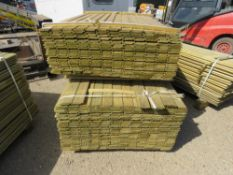 2 X PACKS OF SHIPLAP TIMBER FENCE CLADDING, 1@ 1.73M X 9CM WIDE X 1.5CM DEEP APPROX, 1@1.42M LENGTH