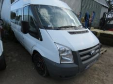 FORD TRANSIT 9 SEAT MINIBUS WITH REAR STORAGE AREA. REG:CX11XOV. TESTED TILL 13/03/2021. WITH V5. D