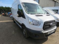FORD TRANSIT LWB HIGH TOP PANEL VAN REG:BJ64 LZG. PREVIOUSLY USED AS FITTER'S VEHICLE SO HAS RACKIN