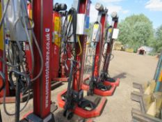 SET OF 4 X SOMERS S6 PORTABLE COLUMN LIFT UNITS FOR COMMERCIAL VEHICLES, 7.5 TONNE RATED CAPACITY, Y